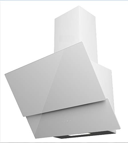 Kopffreie Dunstabzugshaube / 60cm / Glas Touch Control/LED / 550m² / Weiß/Energieeffizienzklasse: A