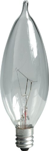 General Electric 48396-12 Traditional Lighting Incandescent Deco/Candle, CA8, true, 12 Bulb