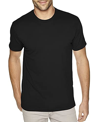 Next Level Apparel 6410 Mens Premium Fitted Sueded Crew Tee - Black44; Extra Large