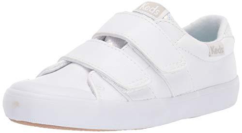 Keds Unisex-Child Courtney Hook & Loop Sneaker, White, 10 M US Toddler