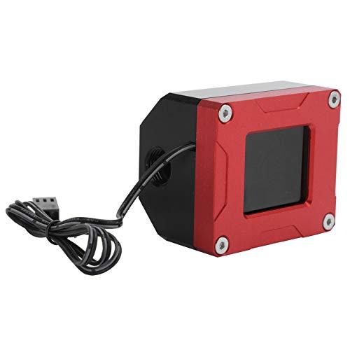 Medidor de flujo, medidor de flujo, refrigeración por agua, pantalla LCD, detección eléctrica, termómetro, monitoreo, LSJ-POZN, compatible con alarma intermitente de palabra de baja velocidad
