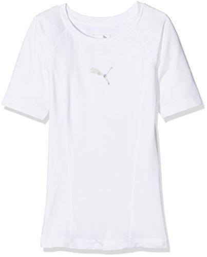 PUMA  Liga Baselayer Tee SS Jr Jungen Shirt, Puma White, 128