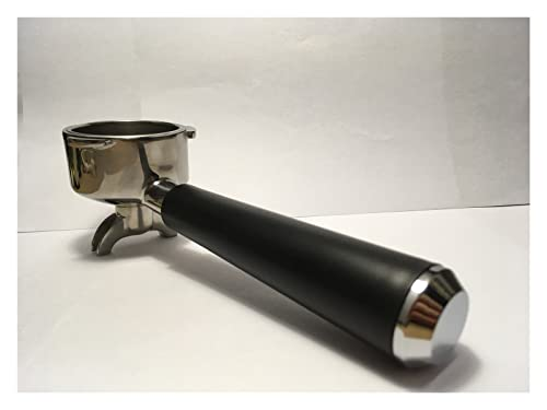 huazhuang-home SUS304 51. MM Portafilter 15-20 BAR Uchwyt Espresso Ekspres do kawy Części uchwyt do filtra ze stali nierdzewnej z filtrem outeter60mm (Color : Beige)