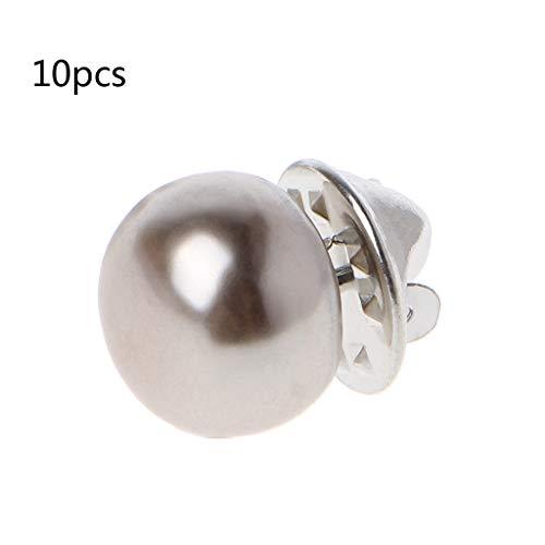 SimpleLife Perlenhalsband Strickjacke Schal Buckle Brosche Pins für Kragen, Strickjacke, großer Schal, Schal, Hut (10er Pack)