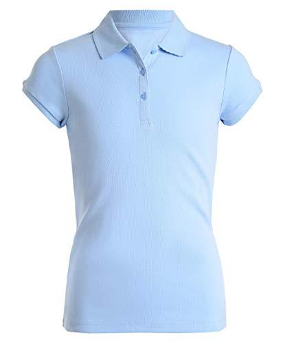 Nautica Girls' Short Sleeve Polo,Light Blue,X-Large(16.5/18.5) Plus