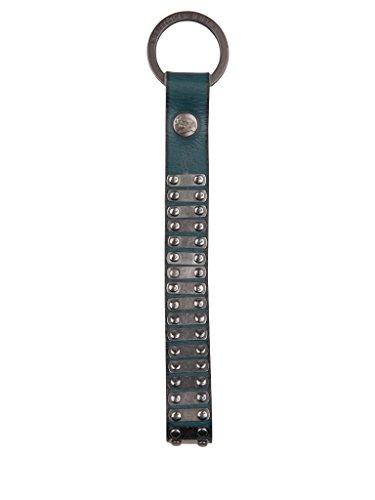 Cowboysbelt Keycord Schlüsselanhänger Lederband mit Nieten petrol4101