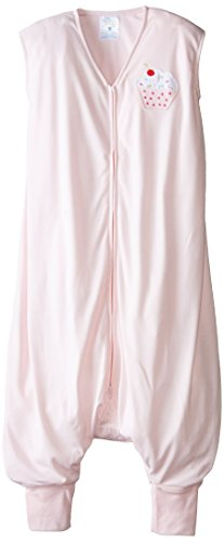HALO Big Kids Sleepsack Lightweight Knit Wearable Blanket, Pink, 2-3T