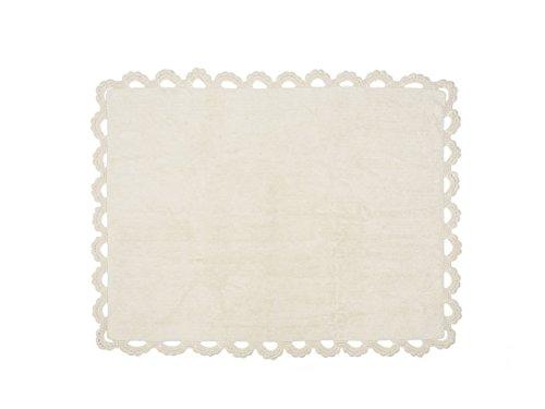Aratextile. Tapis pour enfant 100 % coton lavable en machine Collection Versalles Beige 120 x 160 cm