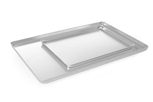 HENDI Auslageplatte, Vitrinenblech, Sandwichplatte, 400x300x(H)20mm, Aluminium, Silber