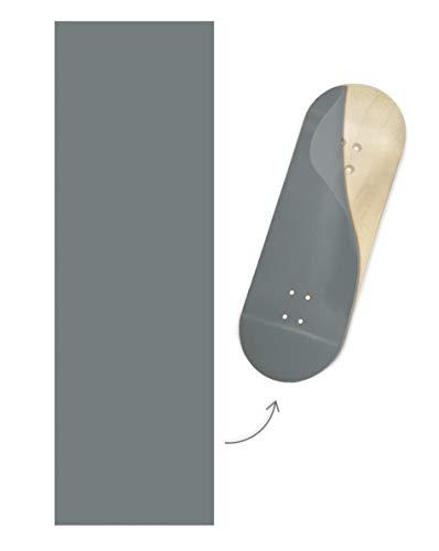 Teak Tuning Colorblock Fingerboard Deck Wrap, Armor Gray Colorway - 35mm x 110mm - Swappable Semi-Permanent Vinyl