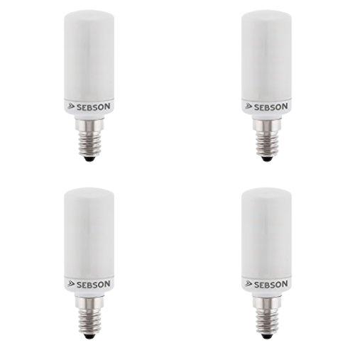 SEBSON LED Lampe E14 warmweiß 4W, ersetzt 40W Glühlampe, 400 Lumen, E14 LED matt, LED Leuchtmittel 160°, 4er Pack