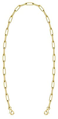 Face Mask Holder,Mask Lanyard,Women Chain Necklace,Decorative Fashion Leash,Paperclip Link Charms Jewelry,Holds Face Mask Around Neck (Gold-7mm)