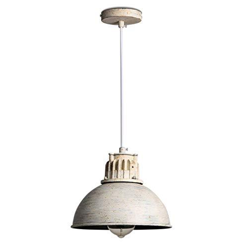 XIN\'S Pendelleuchte Vintage Hängeleuchte Industrial Hängelampe 1 flammig Höhenverstellbar Pendellampe Weiß Kronleuchter E27 Metall Lampenschirm Lampe Wohnzimmer Schlafzimmer Esszimmer Küche Lüster