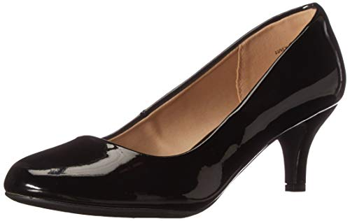 DREAM PAIRS Women's Luvly Black Pat Bridal Wedding Low Heel Pump Shoes - 10 M US