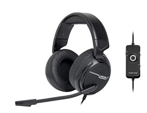 FONESTAR Auriculares con Microfono Y USB Gaming Win-u