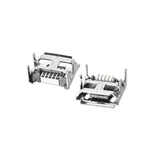 N/D 30 conectores micro USB hembra conector jack Port, 5 pines diip 180 grados, adaptador de repuesto