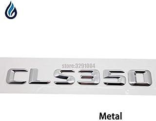 Emblema para tapa trasera de maletero de coche con letras cromadas CLS 350 para Mercedes Benz