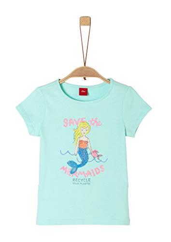 s.Oliver Junior Mädchen 403.10.005.12.130.2038476 T-Shirt, 6006 Light Mint, 128/134 REG