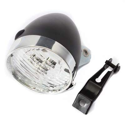 N/A NIEUWE Mountainbike Retro Koplampen 3 LED Dode Vlieglichten Ouderwetse Fiets LED Lamp, Zwart