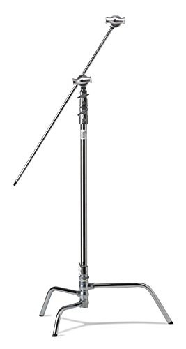 Kupo 40in Master C-Stand with Turtle Base Kit (Stand 2.5in Grip Head & 40in Grip Arm with Hex Stud) - Silver (KS704712)