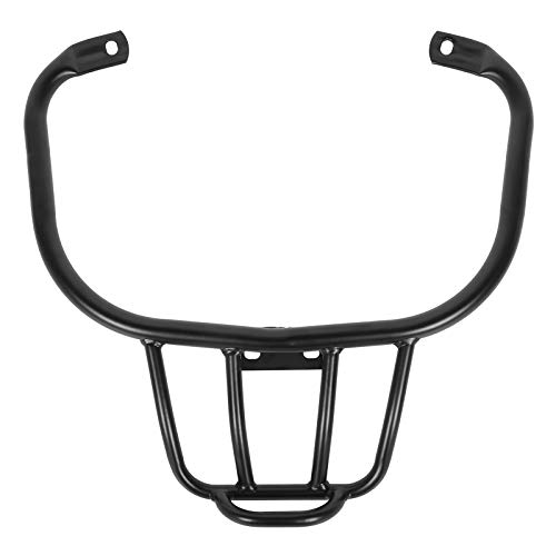 Qiilu Motorcycle Rear Luggage Rack Carrier Shelf Frame CNC Aluminum Strong Load‑bearing Fit for Vespa GTV GTS300 (Black)