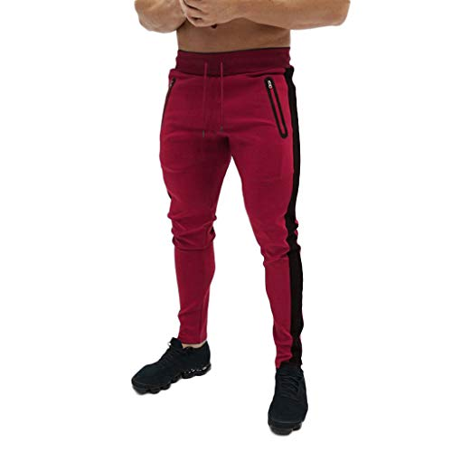 Pantalones para Hombre,Chándal de Hombres Deportivos Running Pants Jogging Pantalon Patchwork Fitness Gym Slim Fit Pantalones Largos Pantalones Ropa de Hombre Skinny Pantalones vpass