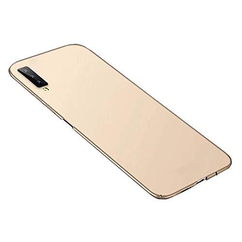 Bakicey Samsung Galaxy A7 2018 Hülle, Handyhülle Ultra Dünn Schutzhülle rutschfest Kratzfeste Stoßfest Samsung A750 Schutz Tasche Hardcase Bumper Cover Schale für Galaxy A7 2018 (Gold)