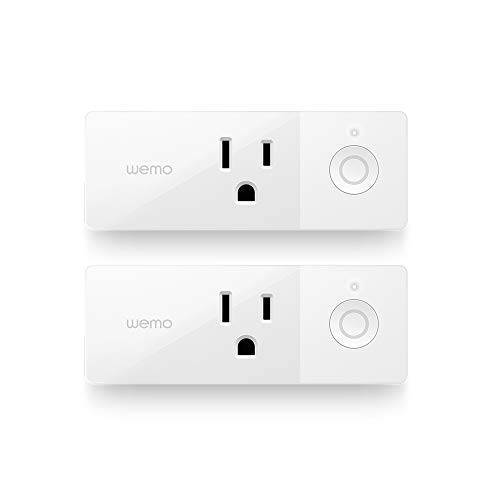 Wemo 43K-720-0224R Mini Smart Plug Compatible with Alexa, Google Assistant & Apple HomeKit(F7C063-CC), 2-pack