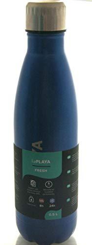 LaPlaya Fresh Thermo Trinkflasche, 0,5 l, blau, hygienischer auslaufsicherer Schraubverschluss, doppelwandiger Edelstahl, vakuumiert, 24 std.kalt, 8 Std.warm