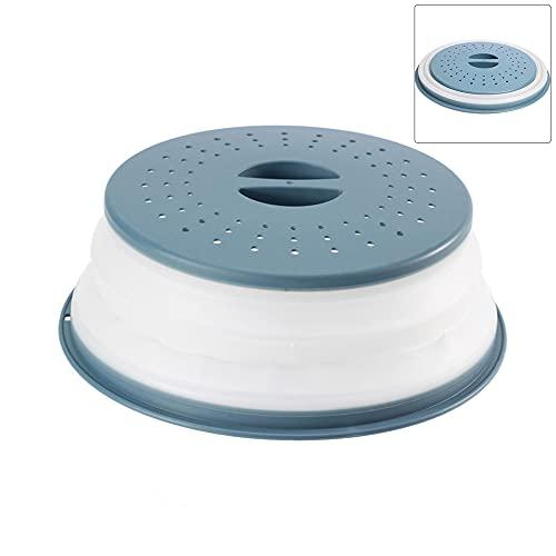 Tapa Microondas, Cubierta del Microondas, Plegable Cubierta del Microondas, Plegable Plato de Microondas Funda, Cubiertas de Silicona para Microondas, Sin BPA Canasta de Filtro de Frutas Verduras