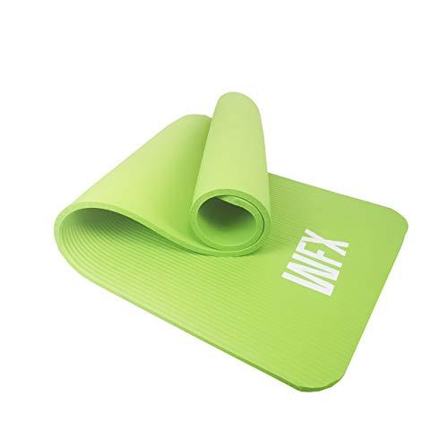 #DoYourFitness Esterilla Yoga y Fitness »Yamuna« - Colchoneta Extra Gruesa y Suave - Estera Deporte - Fitness, Yoga, Pilates, Gimnasia - 183 x 61 x 1,5 cm – Verde