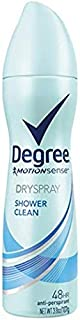 Degree Deodorant 3.8 Ounce Womens Dry Spray Shower Clean (113ml) (2 Pack)