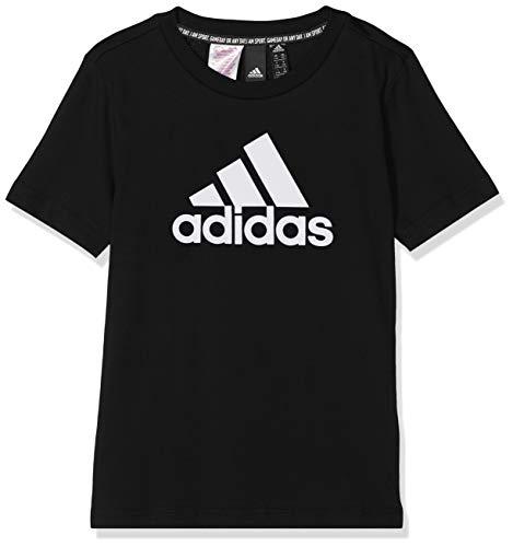 Adidas YB MH Bos T, T-Shirts Bambino, Black/White, 15-16A
