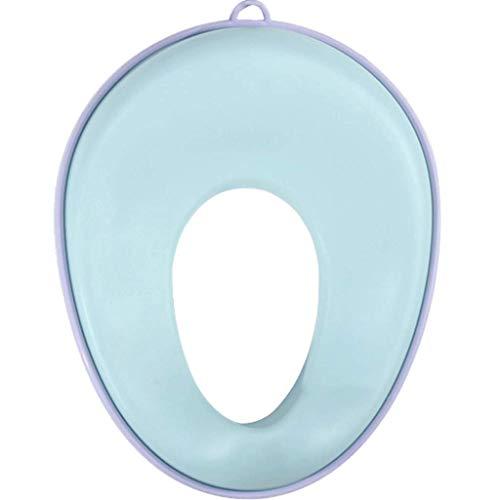 Pot bébé QIQIDEDIAN Siège de Toilette pour Enfant Siège de Toilette Enfant et Enfant (Couleur : Bleu, Taille : (38.5cm*30cm) (21cm*12cm))