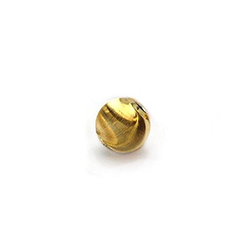 『[ ハッピーボム ] K18 シリコン入り ムーブボール シルクタイプ 3mm 1個 18金 イエローゴールド 189MVBL_SLK_30』の1枚目の画像