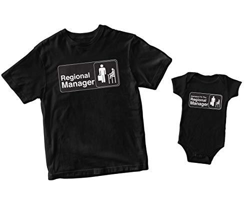 Haase Unlimited Regional Manager Men's T-Shirt (Large, Black)