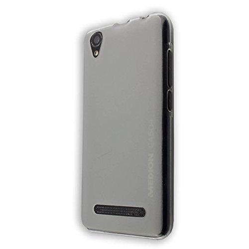caseroxx TPU-Hülle für Medion Life E4504 MD 99537, Handy Hülle Tasche (TPU-Hülle in transparent)