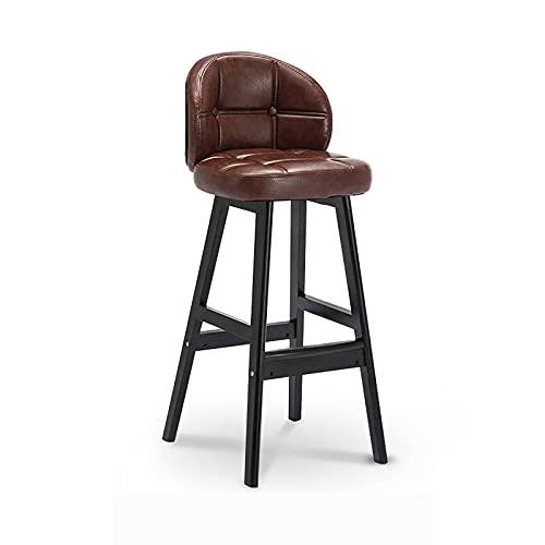N\C Taburete de bar de altura de la barra taburete de la cocina comedor café hidráulico pu silla de bar con respaldo acolchado y base