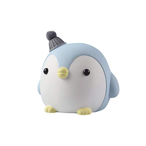 Hucha Pingüino Piggy Bank moneda ahorro olla lindo dibujos animados animal impreso resina dinero caja de almacenamiento kids toys escritorio ornamento cumpleaños regalo de cumpleaños Banco de Dinero