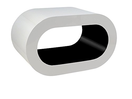 Zespoke Design Blanc et Noir Brillant Tableau Cerceau de Café TV/Meuble en Différentes Tailles