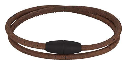 Korkarmband verschiedene Ausführungen | Armband aus Kork I vegan I Damen I Armband mit hochwertigem Magnetverschluss (braun)