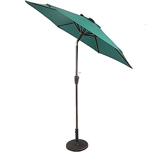 H-BEI Sun Parasol Sombrilla Sombrillas de jardín y Oslash;Paraguas de Mercado de Patio de 7 pies - Sombrilla de Mesa de jardín al Aire Libre con Ajuste de inclinación, Tela Resistente a