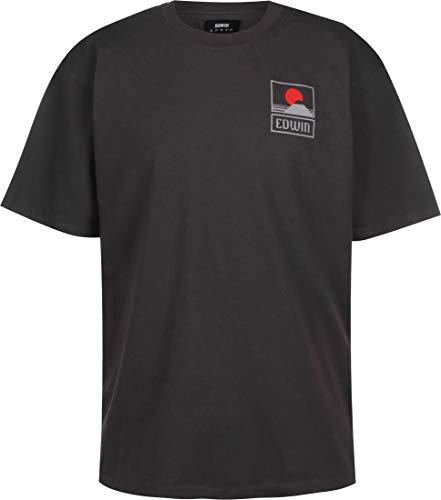 Edwin Sunset On Mt Fuji T-Shirt Ebony Garment Washed