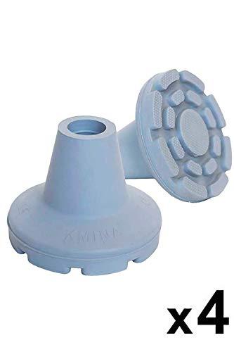 KMINA - Dop voor Krukken 19mm, Dop voor Wandelstok, Rubberen Dop, Uiteinden Krukken, Krukdoppen 19mm, Grijs 4 Stuks