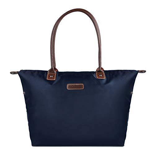 NOTAG Bolsos de Mujer, Grande Bolsos Totes Impermeable de Nylon Bolso Bandolera (Azul)