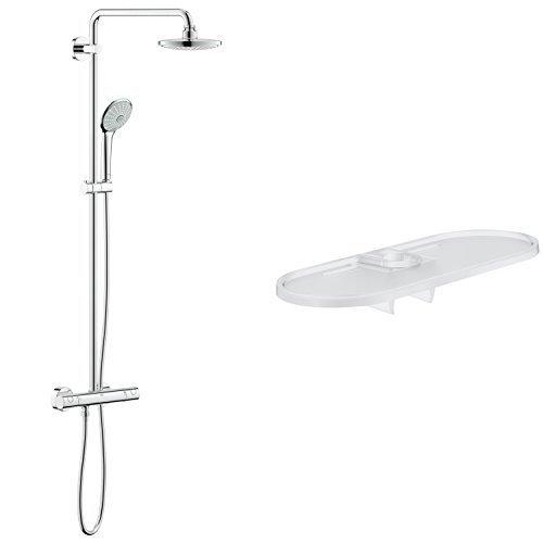 Grohe Euphoria System 180 - Sistema de ducha con termostato incorporado + Tempesta New Classic - Easyreach™ Bandeja (27 596 000)