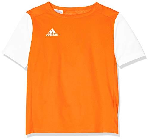 adidas ESTRO 19 JSY Camiseta de Manga Corta, Niños, Solar Orange, L