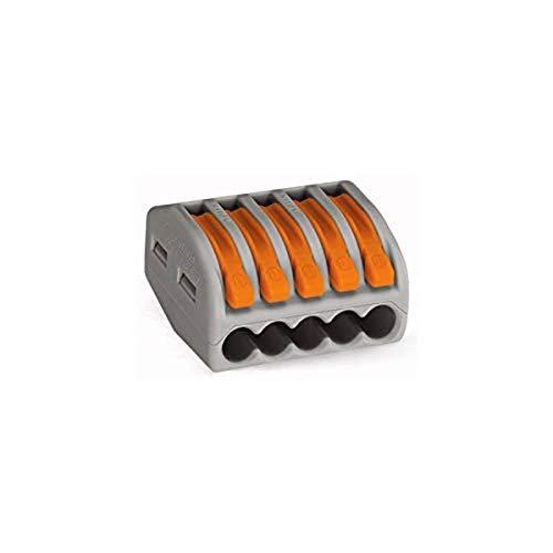 WAGO® Klemme, 5-Leiter, 4 mm², Verbindungsklemme mit Hebel, 222-415 (40 Stück)
