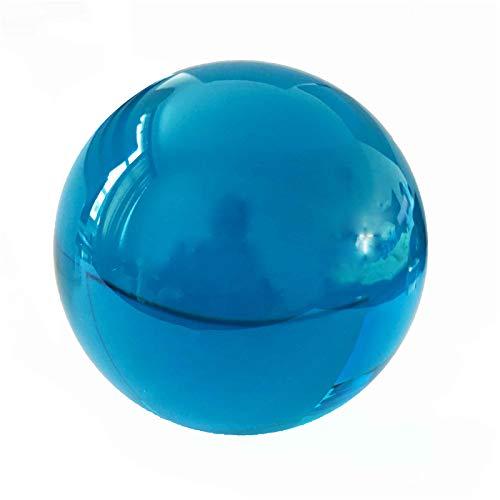 meixiang Farbige Kristall Glaskugel, Kronleuchter Spiegel Kugel Kristallkugel, Dekoration Globus 50MM / Blau