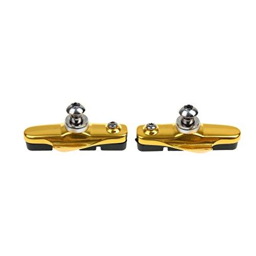 1 Paar Hohe Abrieb Rennrad Fahrrad Fixie Bremse Bremsbeläge Blöcke Gummi Halter - Gold, 55mm